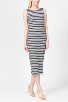 Повседневное платье в полоску из трикотажа TOM FARR