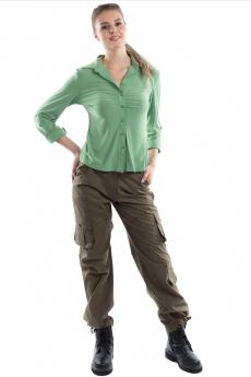Женские брюки карго цвета хаки Bast