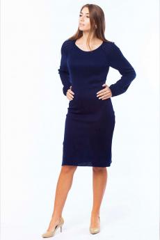 Синее вязаное платье Kvinto
