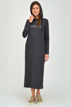 Длинное платье с капюшоном и карманами Viserdi