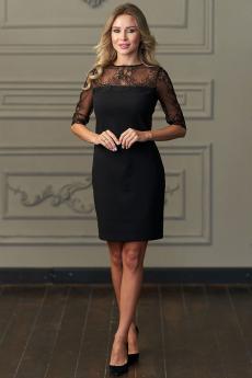 Платье с отделкой из французского кружева Look Russian