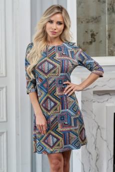 Платье с цветным принтом Look Russian